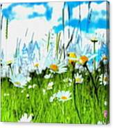 Wild Ones - Daisy Meadow Canvas Print