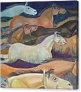 Wild Racers Canvas Print