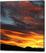Wild Sunrise Over The Mountains Canvas Print