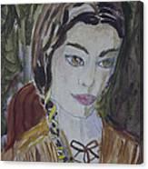Wild West Woman Canvas Print