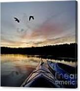 Wilderness Lake Sunset Canvas Print