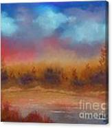Wildfire Fire In The Sky Canvas Print