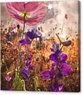 Wildflowers At Dawn Canvas Print