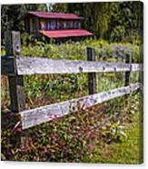 Wildflowers At The Fence Canvas Print