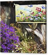 Wildlife's Mailbox Canvas Print