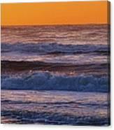 Wildwood Beach Golden Sky Canvas Print