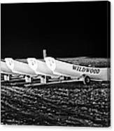 Wildwood Lifeboats At Night In Black And White Canvas Print