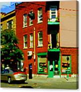 Wilenskys Famous Light Lunch Diner Corner Clark And Fairmount Montreal City Scene Carole Spandau Canvas Print