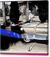 Will Rogers  Jr. Grand Marshall With Polo Mallet Tucson Arizona University Of Az Centennial  1985 Canvas Print