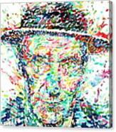 William Burroughs Watercolor Portrait Canvas Print