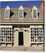 William Pitt Shop Williamsburg Virginia Canvas Print