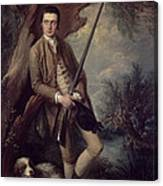 William Poyntz Of Midgham And His Dog Amber Oil On Canvas Canvas Print