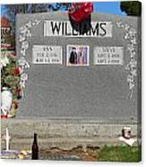Williams Grave Canvas Print