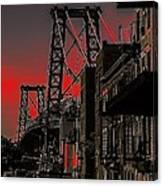 Williamsburg Bridge Abstract Canvas Print