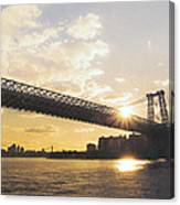 Williamsburg Bridge - Sunset - New York City Canvas Print