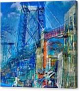 Williamsburg Street Abstract Canvas Print