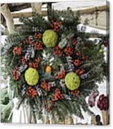 Williamsburg Wreath Squared Canvas Print