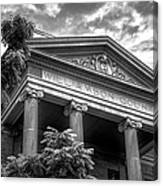 Williamson County Courthouse Bw Canvas Print