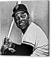 Willie Mays Painting Canvas Print
