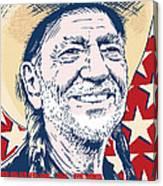 Willie Nelson Pop Art Canvas Print