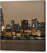 Willis Tower In Fog Canvas Print