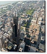Willis Tower Southwest Chicago Aloft Canvas Print