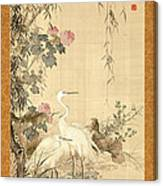 Willow And Herons Canvas Print