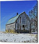 Willow Barn Painting Canvas Print