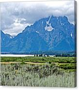 Willow Flats Overlook In Grand Teton National Park-wyoming   Canvas Print