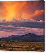 Willow Flats Sunset Canvas Print