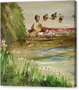 Willow Lake Park Canvas Print