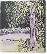Willow Print Canvas Print