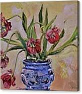 Wilting Tulips Canvas Print