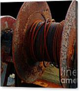Winch - Cable - Crank - Boats Canvas Print