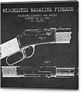 Winchester Firearm Patent Drawing From 1888- Dark Canvas Print