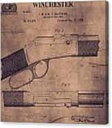 Winchester Rifle Patent Canvas Print