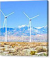 Wind Farm Palm Springs Canvas Print