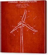 Wind Generator Break Mechanism Patent From 1990 - Red Canvas Print