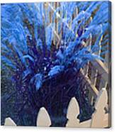 Wind In The Grass - Blue Canvas Print