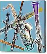 Wind Instruments Canvas Print