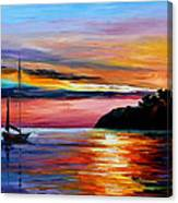Wind Of Hope - Palette Knife Oil Painting On Canvas By Leonid Afremov Canvas Print