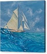 Wind On The Water Canvas Print