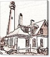 Wind Point Lighthouse Drawing Mode 1 Canvas Print