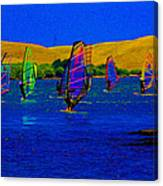 Wind Surf Lessons Canvas Print