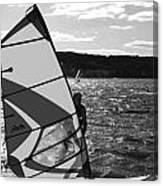 Wind Surfer II Bw Canvas Print