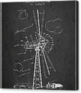 Wind Turbine Patent From 1944 - Dark Canvas Print
