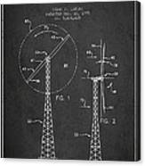 Wind Turbine Rotor Blade Patent From 1995 - Dark Canvas Print