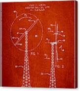 Wind Turbine Rotor Blade Patent From 1995 - Red Canvas Print