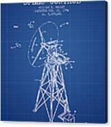 Wind Turbine Speed Control Patent From 1994 - Blueprint Canvas Print