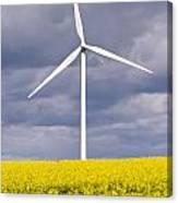 Wind Turbine With Rapeseed Canvas Print